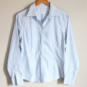 Brooks Brothers Blue White Striped Button Down